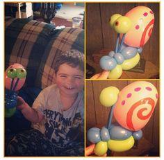 Gary the snail balloon sculpture #Gary #snail #spongebob #cartoon #tv #television #show #balloon #sculpture #art #twist #character