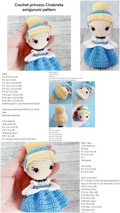 Amigurumi Crochet Princess Free Pattern – Amigurumi Crochet: Amigurumi Crochet … (Baby Nursery Bedding and Baby gifts for gift baskets) Kawaii Crochet, Cute Crochet, Crochet Crafts, Crochet Baby, Crochet Projects, Crochet Toys, Crochet Amigurumi Free Patterns, Crochet Doll Pattern, Crochet Princess