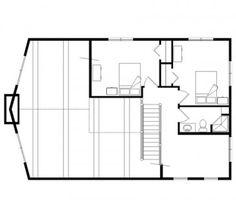 Second floor...I miiiight make the loft a proper fourth bedroom?  Aspen - Log Homes, Cabins and Log Home Floor Plans - Wisconsin Log Homes