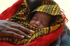 Cutest little ball of skin.  Infants by ONE.org, via Flickr