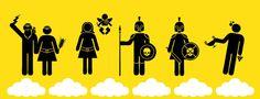 The Olympic Gods pictograms. by Elena Sokolova, via Behance