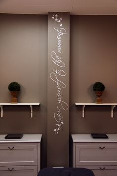 Wall decal for your treatment room || Day spa || massage therapy room || esthetician room || aesthetician room || esthetics || skin care || body waxing || hair removal || body scrub || body treatment room