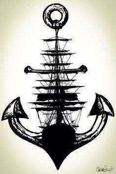 A ship in an anchor