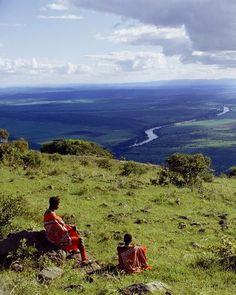 Green hills give way to a wide river valley in landlocked Swaziland.  Photograph by Volkmar K. Wentzel
