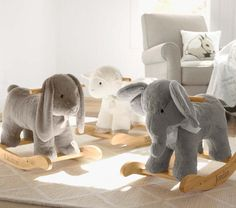 Elephant Plush Rocker | Pottery Barn Kids---love these adorable animal rockers :) wish I'd had one as a kid!