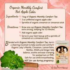 Organic Monthly Comfort Hot Apple Cider