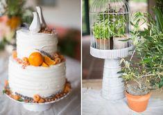 Orange decor cake with Jonathan Adler salt and pepper shakers repurposed as fun, modern cake toppers. Wedding Trends, Wedding Blog, Wedding Stuff, Wedding Ideas, Modern Cakes, Sweet Bar, Colorful Cakes, Elegant Cakes, Mod Wedding
