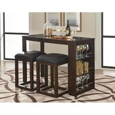 Bar Stools 5 Piece Bar Height Dining Set Counter Height Pub in proportions 1400 X 1247 3 Piece Pub Table Set Bed Bath Beyond - If you are on the lookout fo Pub Table And Chairs, Round Pub Table, Counter Height Dining Table, Dining Table In Kitchen, Dining Rooms, Kitchen Nook, Bar Counter, Kitchen Cart, Fine Dining