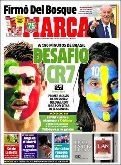 Los Titulares y Portadas de Noticias Destacadas Españolas del 15 de Noviembre de 2013 del Diario Marca ¿Que le pareció esta Portada de este Diario Español?