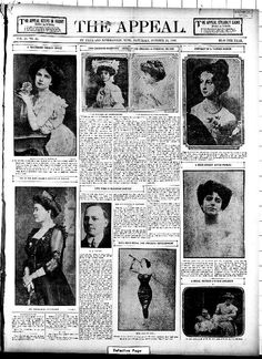 The Appeal (24 Oct 1908) Two Charming Duchesses -- American and English -- A Personal Sketch. The Duchess of Marlborough (nee Consuelo Vanderbilt) is pictured top right of center.