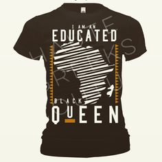 EDUCATED BLACK QUEEN FITTED SHIRT BLK