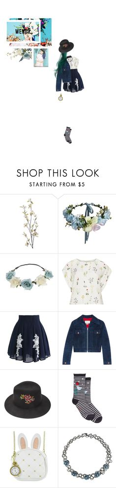 """Happiness pt 4"" by willa-vanilla ❤ liked on Polyvore featuring Pier 1 Imports, Mes Soeurs et Moi, Chicwish, Gucci, Justine Hats, HUE, Loungefly, Hot Topic and Magda Butrym"