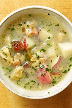 Clear clam chowder o