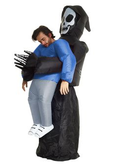 Adult's Inflatable Grim Reaper Pick Me Up Costume Scary Halloween Costumes, Halloween Horror, Dress Up Costumes, Adult Costumes, The Grim, Five Star, Pick Me Up, Grim Reaper, Grey Pants
