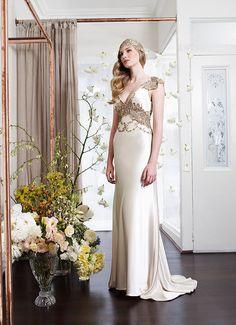 Vintage Deco Collection. Helen English. Vintage wedding dress. Old hollywood wedding dress.