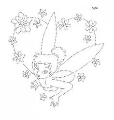 Tinkerbell Embroidery Hearts, Tambour Embroidery, Paper Embroidery, Embroidery Patterns, Tinkerbell, Diamond Picture, Rhinestone Art, String Crafts, String Art Patterns