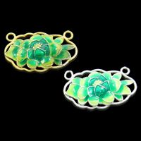Cloisonne Connector Flower handmade 1/1 loop lead & cadmium free Approx 2mm Sold By PC