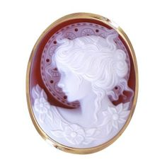Cameo Brooch of Woman with Halo