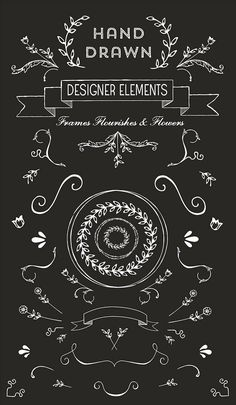 hand drawn designer elements