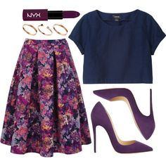 A fashion look from October 2014 featuring Monki t-shirts, Oasis skirts and Christian Louboutin pumps. Browse and shop related looks.