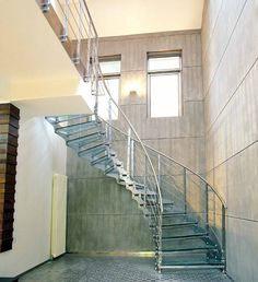 Exterior de caracol escalera / escalera de acero inoxidable del diseño