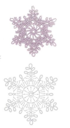 Crochet snowflake...