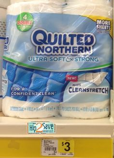 Dollar General: Quilted Northern 4 pack double roll toilet paper only $1 with printable coupon!