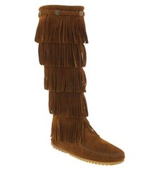Minnetonka '5 Layer Fringe' Boot available at #Nordstrom. I need these for sure.