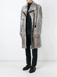 Dolce & Gabbana Vintage Manteau En Fourrure De Lapin Et Cuir - A.n.g.e.l.o Vintage - Farfetch.com