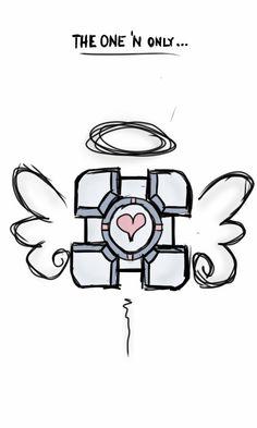 Companion Cube angel by saker10.deviantart.com on @DeviantArt