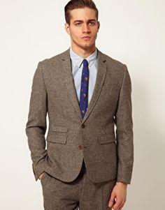 ASOS Slim Fit Suit In Houndstooth