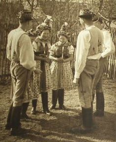 Today we are taking a peek inside of a book entitled Lidé z Javorníka (or simply, People from Javornik) by Ferdinand Bučina - who was a Czech photographer and filmmaker. Folk Clothing, Extraordinary People, Tribal Dress, Wedding Costumes, Folk Costume, Ferdinand, Festival Wear, World Cultures, Czech Republic