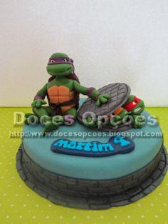 Doces Opções: Bolo Tartarugas Ninja