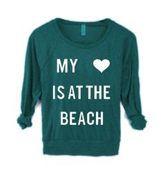 Vintage retro BEACH Print Raglan Sweater