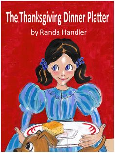 It is 1941, and President Franklin D. Roosevelt has just made Thanksgiving a national holiday in the United States. Takari's family is coming from near and far to celebrate together. The Thanksgiving Dinner Platter by Randa Handler is available on Bookshare at https://www.bookshare.org/browse/book/902759. (Image: A little girl carries a platter holding a square of cornbread.)