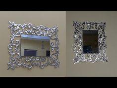 Aluminum Foil Art, Aluminum Can Crafts, Woolen Craft, Diy Frame, Diy Wood Projects, Wall Art Decor, Interior And Exterior, Mirror, Vintage