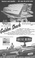 West Bend Golden Shark Outboard Motor 1959 Ad Picture