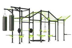 Crossfit Garage Gym, Crossfit Equipment, Diy Home Gym, Gym Room At Home, Calisthenics Gym, Small Home Gyms, Workout Stations, Backyard Gym, Gym Setup