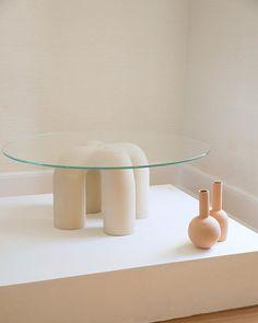 "Eny Lee Parker, Ceramic Stitch Table 36"". Photo by @amyanstatt"