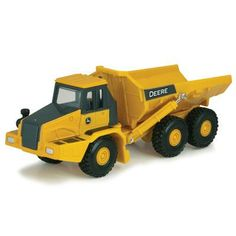 This construction dump truck features articulated center, durable die cast and plastic construction,and authentic decoration. For use with other Collect n Play pieces. Age Grade 3+ LP64774