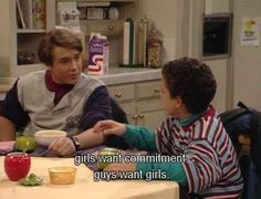 "1. Boys and girls are different. | 24 Lessons We Learned From Watching Eric Matthews On ""Boy Meets World"""