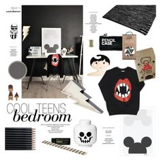 """""""Cool Teens Bedroom"""" by ashley-rebecca ❤ liked on Polyvore featuring interior, interiors, interior design, home, home decor, interior decorating, Laura Ashley, Faber-Castell, HAY and Kate Spade"""