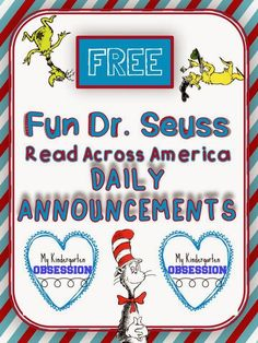 Dr. Seuss Daily Rhyming Annoucements FREEBIE!