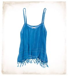 Headed to a sunny destination for your honeymoon?  Don't forget to pack your Aerie Tassel Cami!
