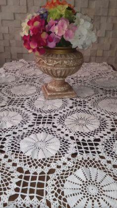 Toalha de mesa de croche