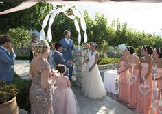 Wedding ceremony in Crete at villa wedding organized by MOMENTS weddings & events