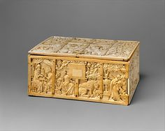 Casket with Scenes from Romance  Date: ca. 1310–30, Made in Paris, France. This coffret illustrated with scenes from Arthurian and other courtly literature of the Middle Ages is one of the most imposing examples to survive.
