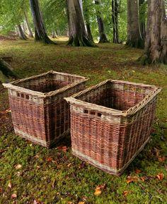 Naturally colorful Log basket