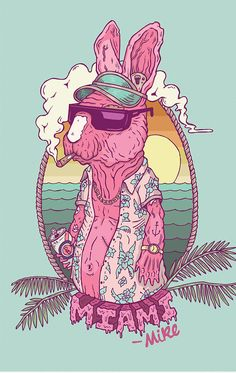 """Miami Mike"" by Cameron Miller 