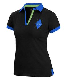 Love this Black & Blue Argyle Logo Polo on #zulily! #zulilyfinds